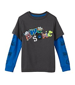 Mix & Match Boys' 2T-7 Layered Awesome Skater Tee