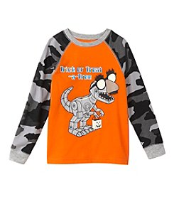 Mix & Match Boys' 4-7 Trick Or Treat-A-Tron Raglan Tee