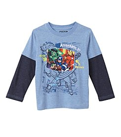 Marvel® Boys' 2T-4T Layered Avengers Assemble Skater Tee