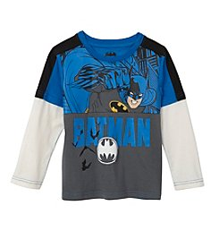 Batman® Boys' 2T-4T Layered Batman Skater Tee