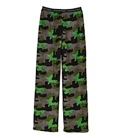Calvin Klein Boys' 5-16 Camo Fleece Pajama Pants