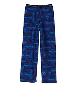 Calvin Klein Boys' 5-16 Logo Fleece Pajama Pants