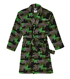 Calvin Klein Boys' 5-16 Camo Fleece Robe