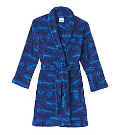 Calvin Klein Boys' 5-16 Logo Fleece Robe