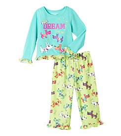 Komar Kids® Girls' 2T-4T 2-Piece Dream Team Pajama Set