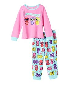 Komar Kids® Girls' 2T-4T 2-Piece Whoo's The Cutest? Pajama Set