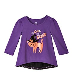 Mix & Match Baby Girls' Long Sleeve So Cute Its Scary Bow Back Tee