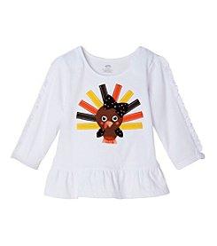 Mix & Match Baby Girls' Long Sleeve Turkey Peplum Tee