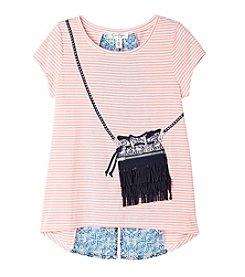 Jessica Simpson Girls' 7-16 Short Sleeve Nora Purse Tee