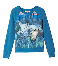 Jessica Simpson Girls' 7-16 Long Sleeve Ariel Fennec Fox Top