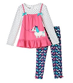 Nannette® Girls' 4-6X 2-Piece Puppy Jumper And Leggings Set
