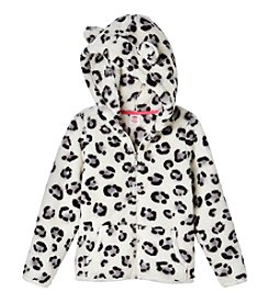 Mix & Match Girls' 2T-6X Printed Fuzzy Hoodie