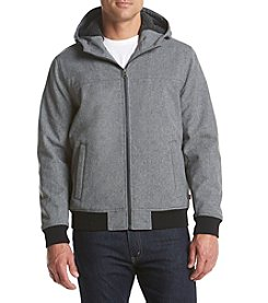 Levi's® Men's Soft Shell Hooded Bomber With Sherpa Lining