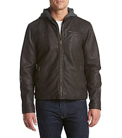 Levi's® Men's Hooded Faux Leather Racer Jacket