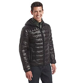 Tommy Hilfiger® Men's Hooded Fashion Packable Down With Contrast Puffer Bib Jacket