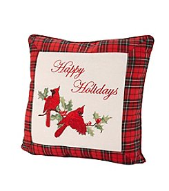 LivingQuarters Cardinal With Berries Pillow