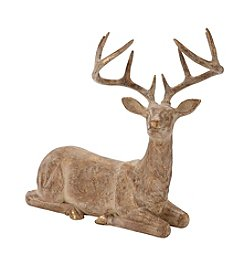 LivingQuarters Rustic Lodge Collection Sitting Deer