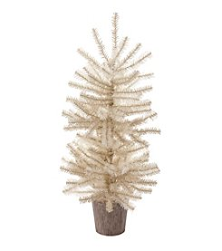 LivingQuarters Coastal White Decor Tree