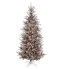 LivingQuarters Enchanted Forest 8.5' Artificial Prelit Sherwood Steel Pine