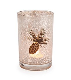 LivingQuarters Rustic Lodge Collection Medium Pinecone Tealight Holder