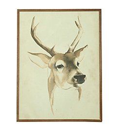 Ruff Hewn Girl Reindeer Portrait