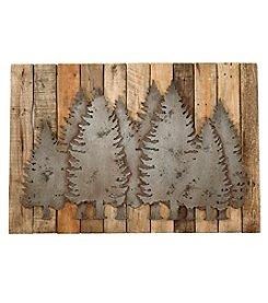 Ruff Hewn Wooden Forest Scene