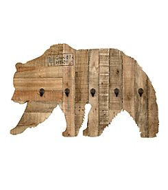 Ruff Hewn Wooden Bear With Hooks