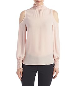 Ivanka Trump® Georgette Cold Shoulder Blouse
