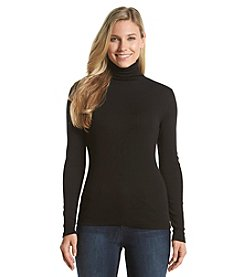 Ruff Hewn Scrunch Turtle Neck Knit Top