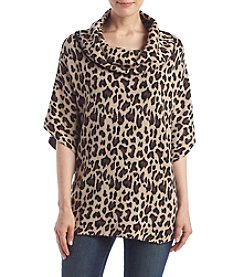 Fever™ Leopard Cowl Poncho