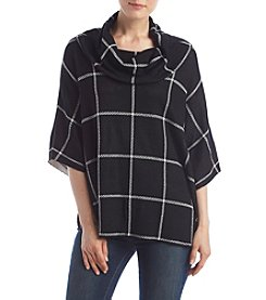 Fever™ Plaid Cowl Poncho