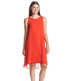 Vince Camuto® Chiffon Overlay Dress