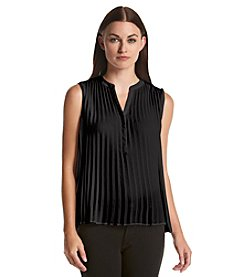 Calvin Klein Pleated Sleeveless Blouse