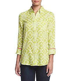 Le Tigre Long Sleeve Printed Woven Shirt