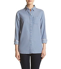 Le Tigre Long Sleeve Chambray Woven Shirt