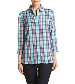 Le Tigre Long Sleeve Plaid Woven Shirt