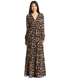 Relativity® Floral Print Woven Maxi Dress