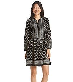 Relativity® Printed Peasant Dress