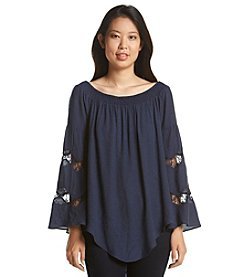 Relativity® Off Shoulder Peasant Blouse