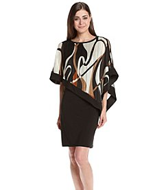 R&M Richards® Petites' Poncho Dress