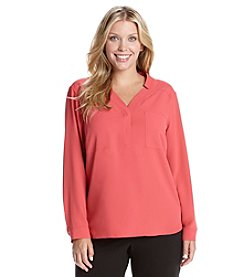 Nine West® Plus Size Solid Top