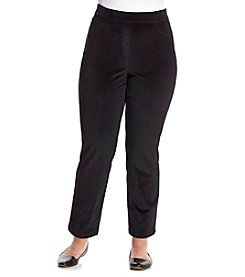 Rafaella® Plus Size Stretch Corduroy Pants