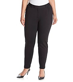 Calvin Klein Plus Size Solid Ponte Pants