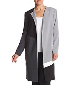 Calvin Klein Plus Size Long Color Block Jacket