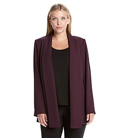 Calvin Klein Plus Size Solid Open Front Jacket
