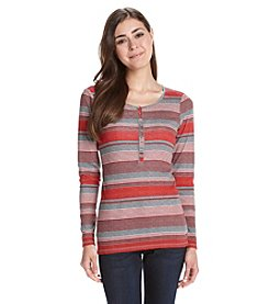 Ruff Hewn Petites' Striped Henley Top