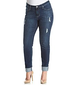 Earl Jean® Plus Size 5 Pocket Destructed Skinny Jeans