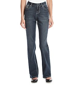 Earl Jean® Petites' Floral With Lace Flap Pocket Jeans