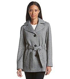 Jones New York® Fleece Trench Coat