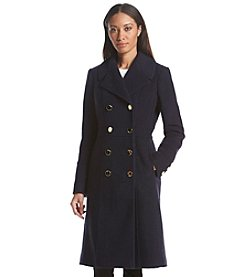 GUESS Boiled Long Military Wool Coat